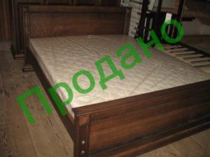 Ліжко нове з натурального дерева-0