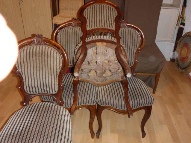 Стільці Бідермейер, зразок реставрації-55913