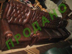 Шкіряна м'яка частина (3-х містний диван та 2 крісла)-0