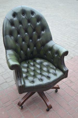 ЗРАЗОК РЕСТАВРАЦІЇ - крісло в кабінет, стиль Честерфілд-0