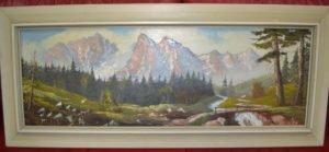Картина, гірський пейзаж, А8267-0