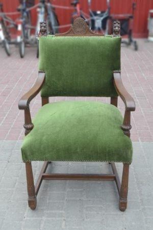 Антикварне крісло для кабінету - ЗРАЗОК РЕСТАВРАЦІЇ-0