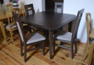 Квадратний стіл + 4 стільці - після реставрації-0