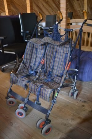 Літня коляска для двійні-0