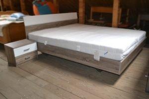 Ліжко + матраци + 2 тумби -0