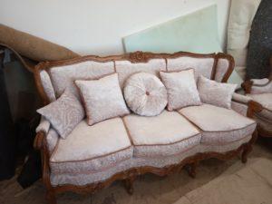 Софа + 2 крісла, Рококо - ЗРАЗОК РЕСТАВРАЦІЇ-0