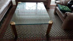Журнальний стіл на латунних ніжках А9563-0