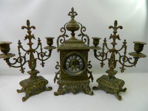 Латунний годинник із свічниками, А9912-0