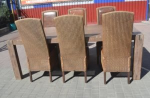 Комплект садових меблів loom: стіл та 6 стільців, А9963-0