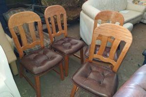 Дубове крісло, в наявності 4 шт., А9939-0