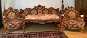 Гарнітур Бароко: софа, 2 крісла та столик, А10260-0