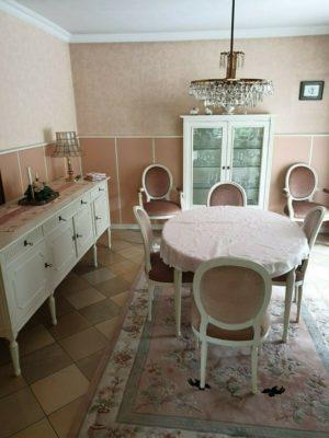 Комплект для вітальні: стіл+6стільців+комод+вітрина+тумба, А10239-0