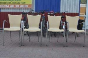 Шкіряні стільці, 4 шт, А10179-0