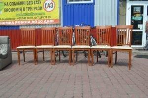 Стільці дерев'яні, 6 шт, А10182-0