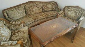 Тримісний диван та два крісла Чіппендейл, А10310-0