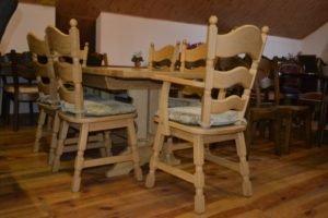 Стіл та 6 стільців з масиву дуба, А10416-0