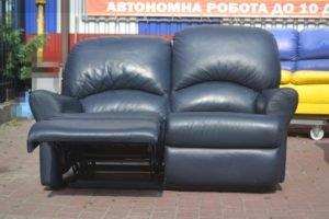 Шкіряний диван-реклайнер, А10426-0